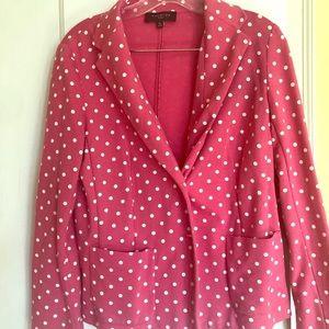 Talbots pink polka dot blazer